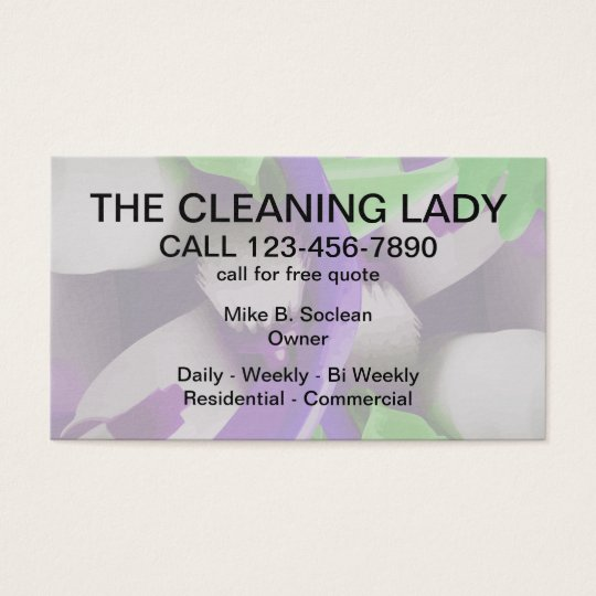 Cleaning Service Modern Design Business Card