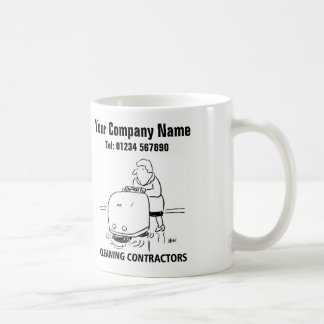 Cleaning Services Cartoon Mug