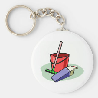 Cleaning Supplies Keychain