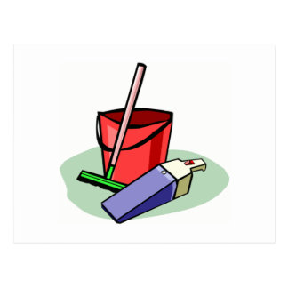 Cleaning Supplies Postcard