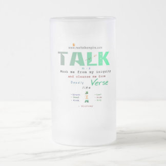 Cleanse - glass frosted glass mug