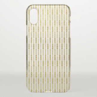 Clear and Faux Gold Pattern iPhone X Case