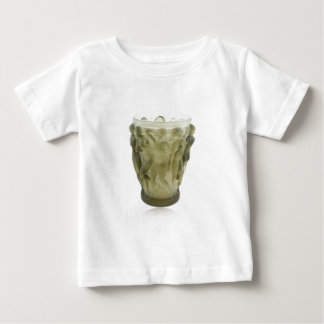 Clear Art Deco glass vase with female dancers. Baby T-Shirt
