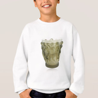 Clear Art Deco glass vase with female dancers. Sweatshirt