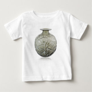 Clear Art Deco glass vase with flower design. Baby T-Shirt