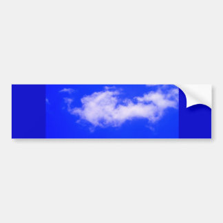 Clear Blue Sky and White Clouds Bumper Sticker