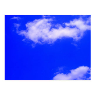 Clear Blue Sky and White Clouds Post Card