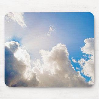 Clear Blue Sunburst Mouse Pad