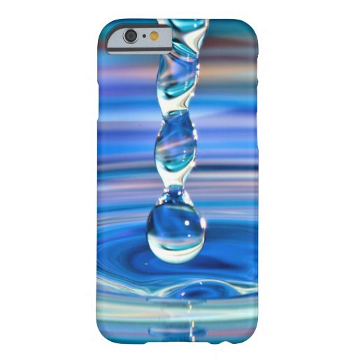 Clear Blue Water Drops Flowing iPhone 6 Case