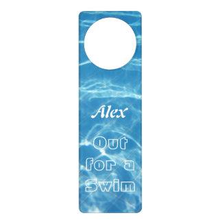 Clear Cool Blue Aquatic Pool Water Hearts Swimming Door Hanger
