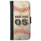 Clear Cool Vintage Baseball Iphone 6 Wallet