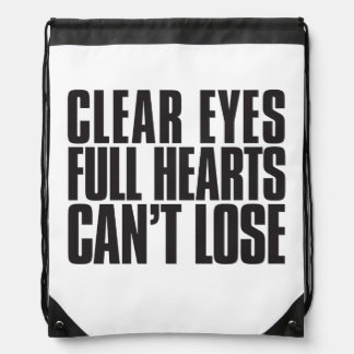 Clear Eyes, Full Hearts, Can't Lose Texas Bag Rucksack