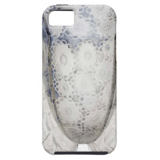 Clear glass Art Deco vase with flowers. iPhone 5 Case