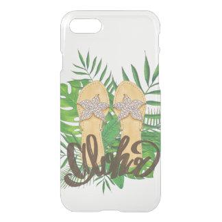 Clear Hawaiian Tropical Flip Flop Aloha iPhone 7 Case