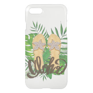 Clear Hawaiian Tropical Flip Flop Aloha iPhone 8/7 Case