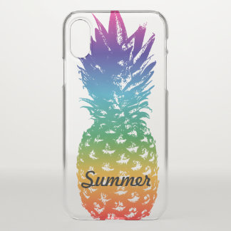 Clear iPhone X pineapple case with custom name