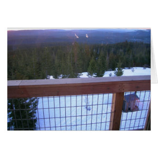 Clear Lake Butte Fire Lookout Greeting Card