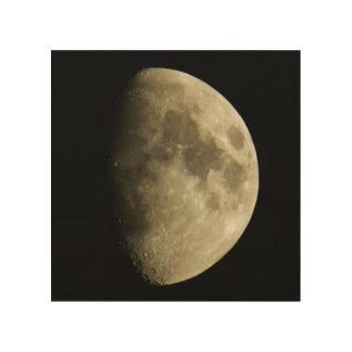 Clear Moon Wood Canvas