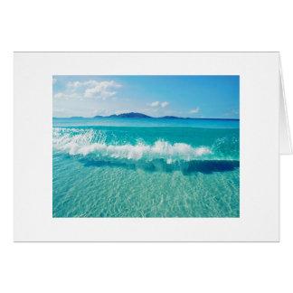 clear ocean wave card