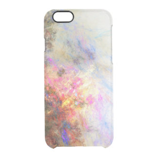 Clear paint ikat hipster neon purple yellow clear iPhone 6/6S case