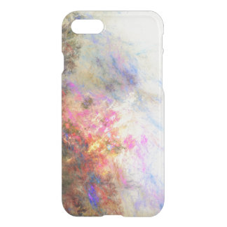 Clear paint ikat hipster neon purple yellow iPhone 8/7 case