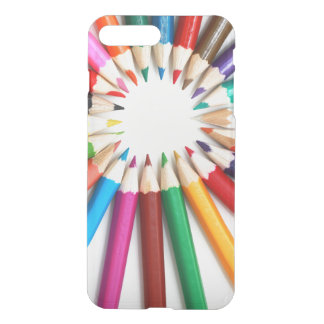 Clear rainbow color pencils hipster artist trendy iPhone 7 plus case