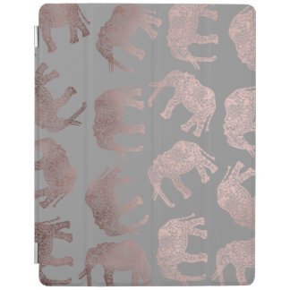 clear rose gold foil tribal elephant pattern iPad cover