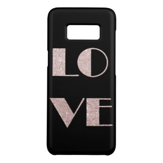 clear rose gold glitter love text Case-Mate samsung galaxy s8 case