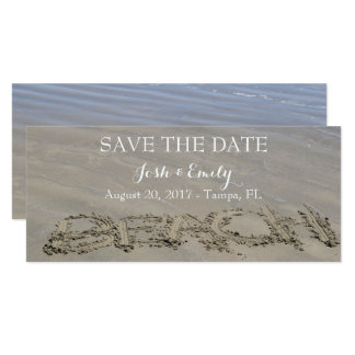 Clear Sandy Beach invitations