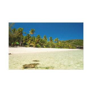 Clear seawater at a tropical beach canvas print