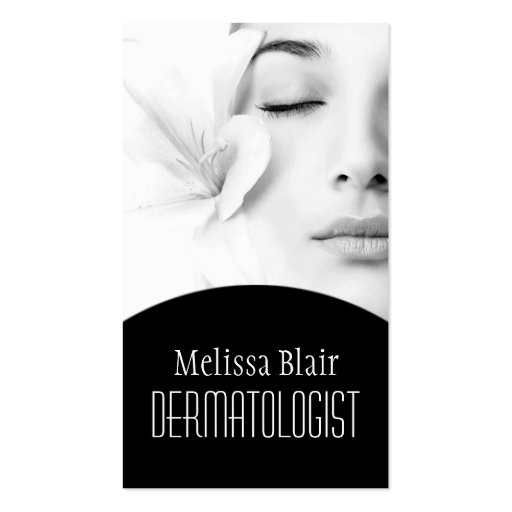 Clear Skin Dermatologist Facial Massage Spa Business Cards