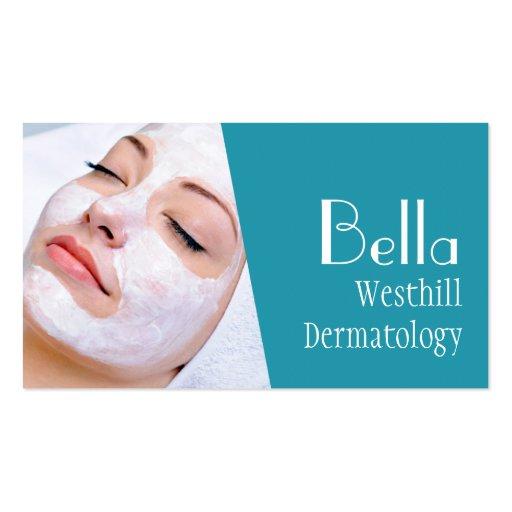 Clear Skin Dermatologist Facial Massage Spa Business Card Template