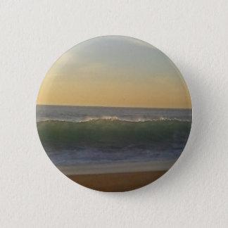 clear summer wave 6 cm round badge
