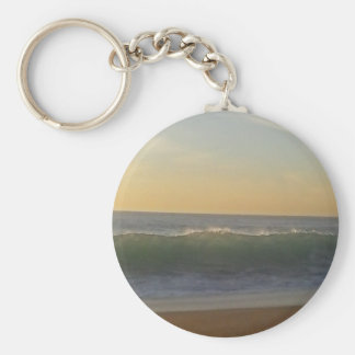 clear summer wave key ring