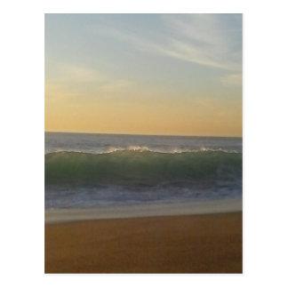 clear summer wave postcard
