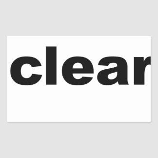 Clear Text Rectangular Sticker