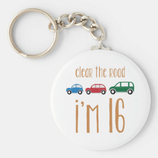 Clear The Road I'm 16 Key Ring
