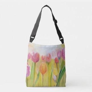 Clear tulips Draagtas Crossbody Bag