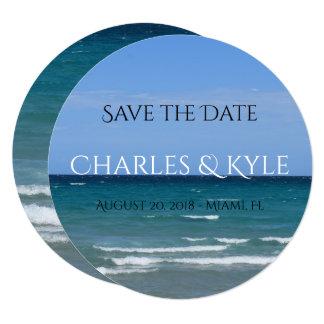 Clear turquoise beach invitation