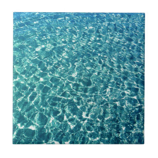 Clear Water Blue Ceramic Tile