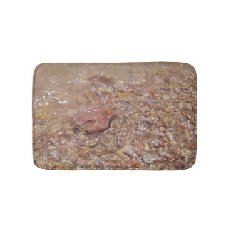 Clear water over stones bath mat