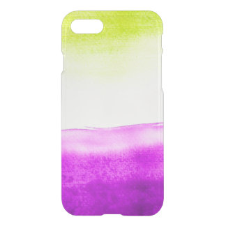 Clear watercolor ikat hipster neon green purple iPhone 8/7 case