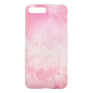 Clear watercolor ikat hipster pastel hot pink neon iPhone 7 plus case