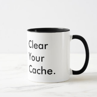 Clear Your Cache | Tech Humor | Company Logo Mug