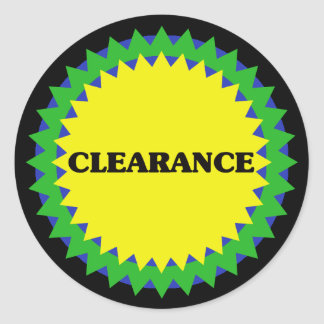 CLEARANCE Retail Sale Sticker
