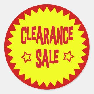 CLEARANCE SALE RETAIL BADGE ROUND STICKER
