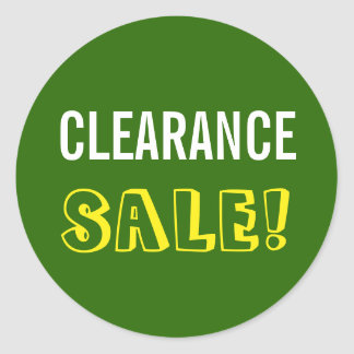 """CLEARANCE SALE!"" Round Sticker"