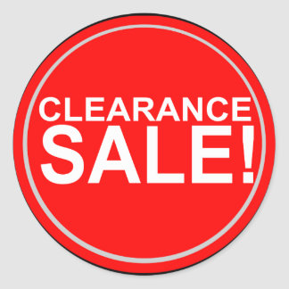 Clearance sale round stickers
