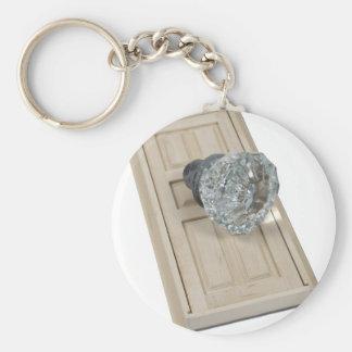 ClearCrystalKnobDoor021411 Basic Round Button Key Ring