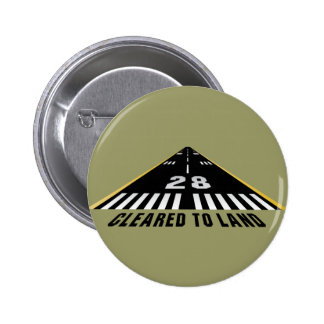 Cleared To Land Runway 6 Cm Round Badge